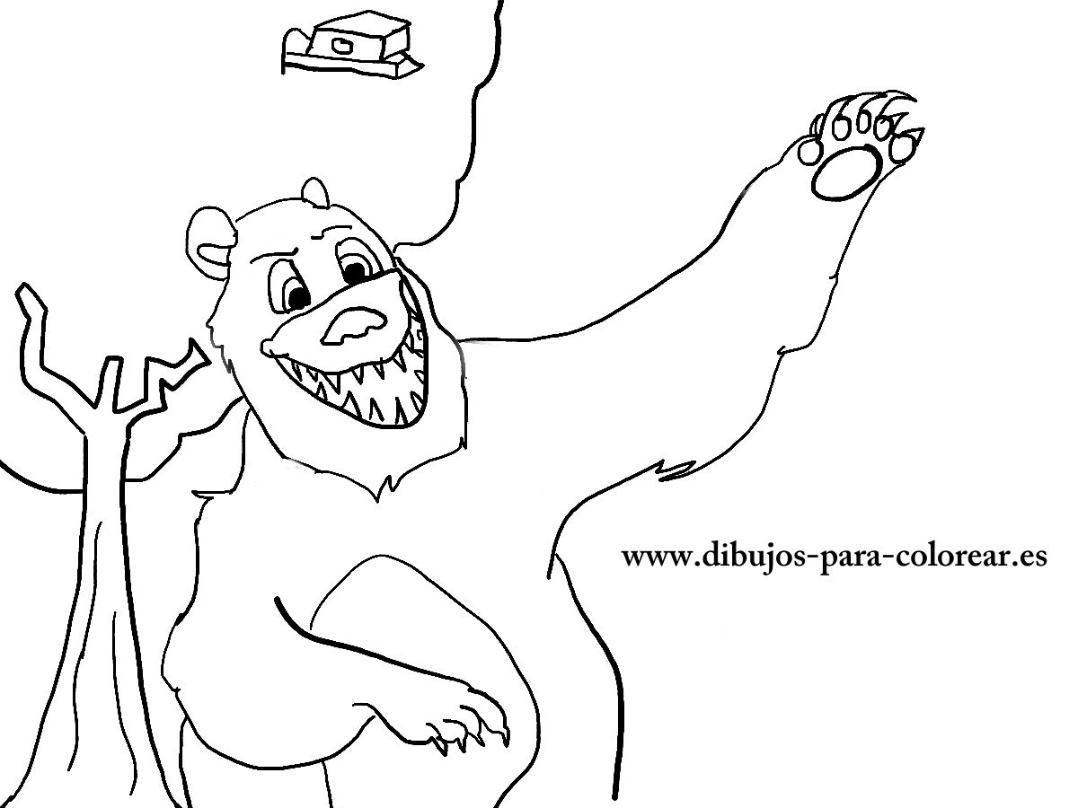 Dibujos para colorear - El oso del bosque