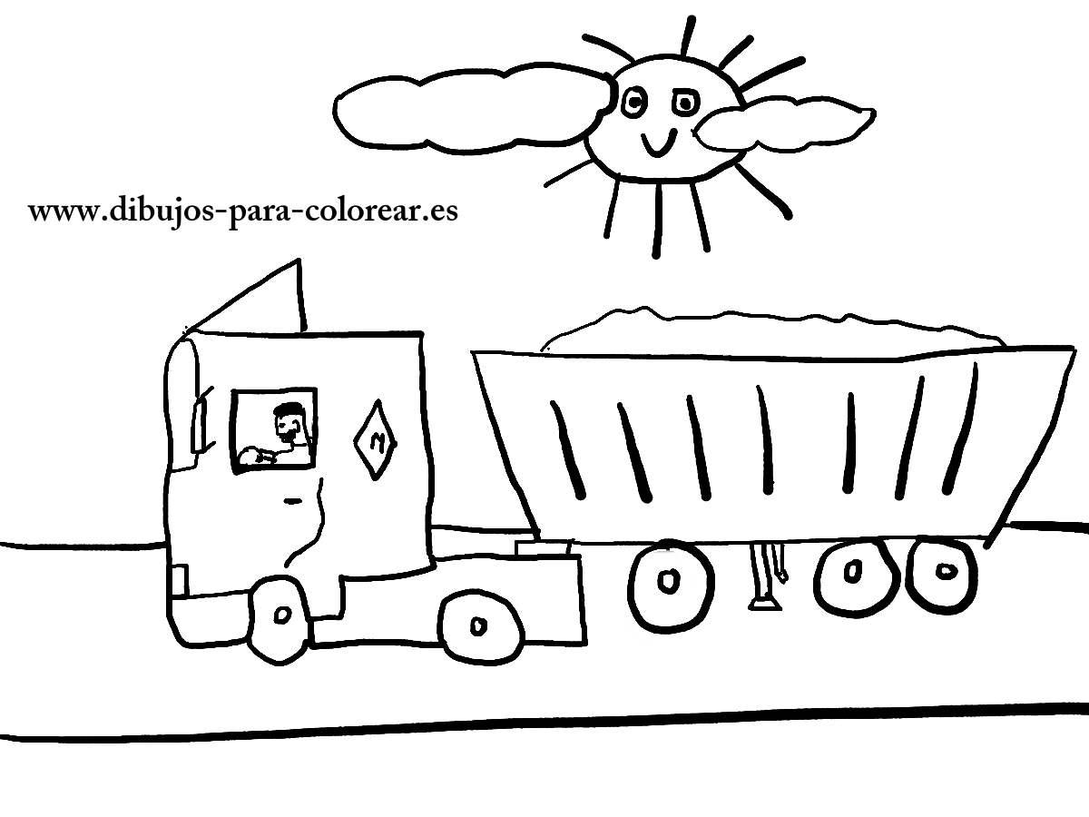 Dibujos para colorear - el señor camionero