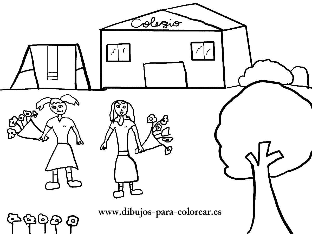 Dibujos para colorear - la primavera y las flores del campo