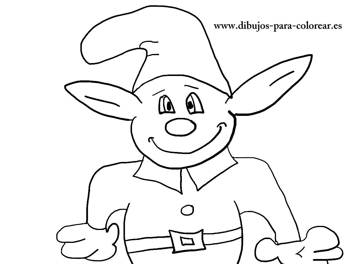 Dibujos para pintar - El duende verde de la casa