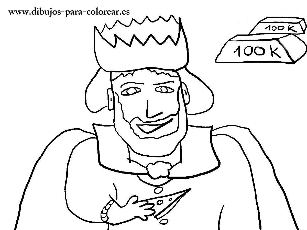 dibujos para colorear - rey midas