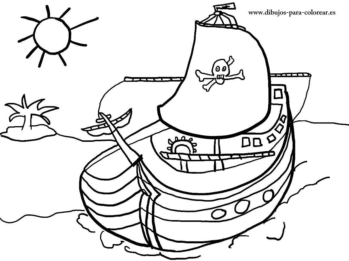Barco Pirata Dibujos Para Colorear