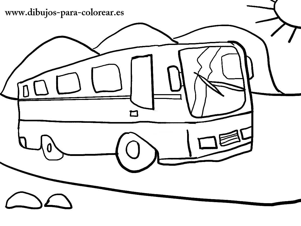Dibujos para colorear - el autobus solidario