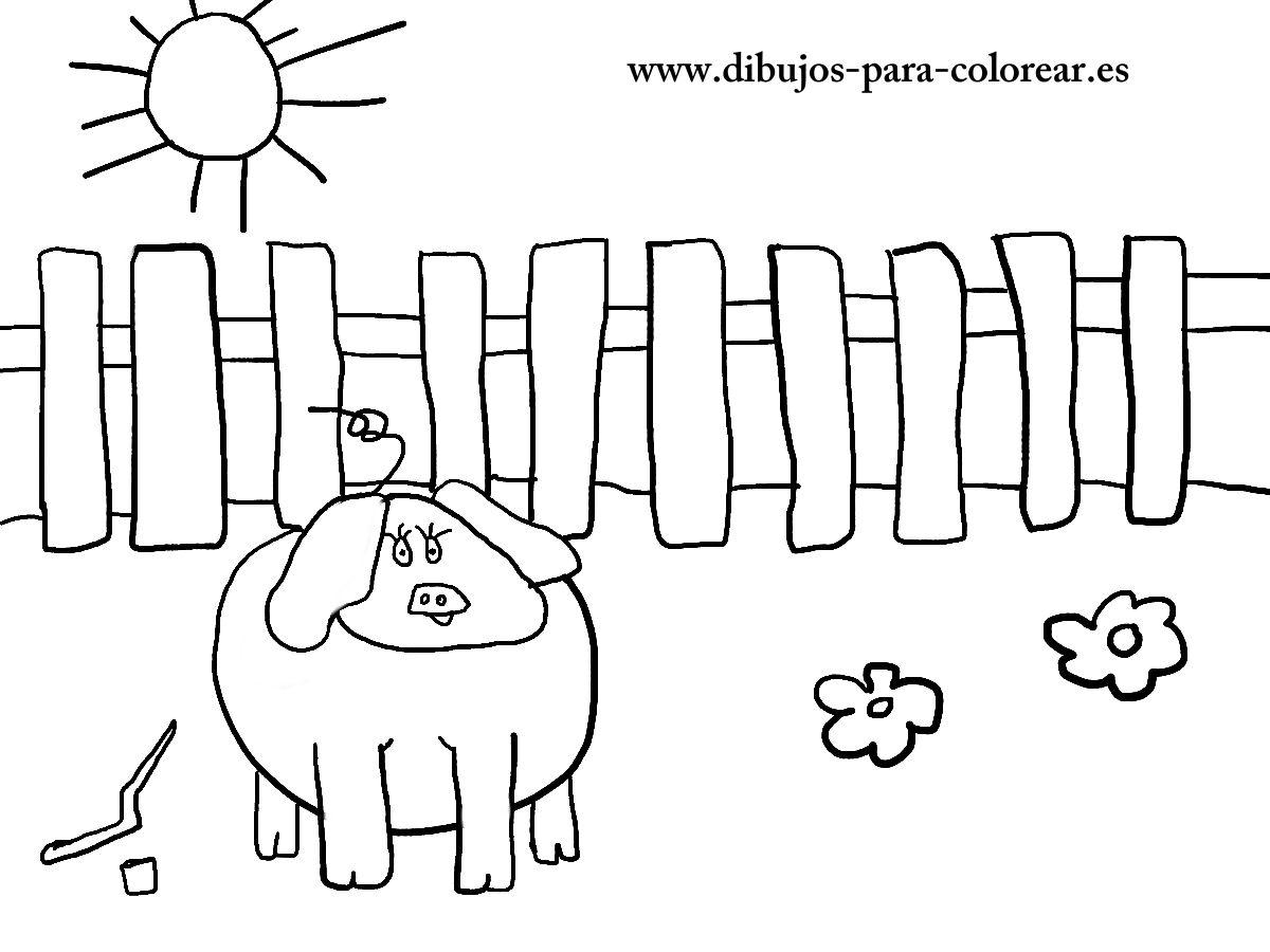 Dibujos para colorear - el cerdito hada