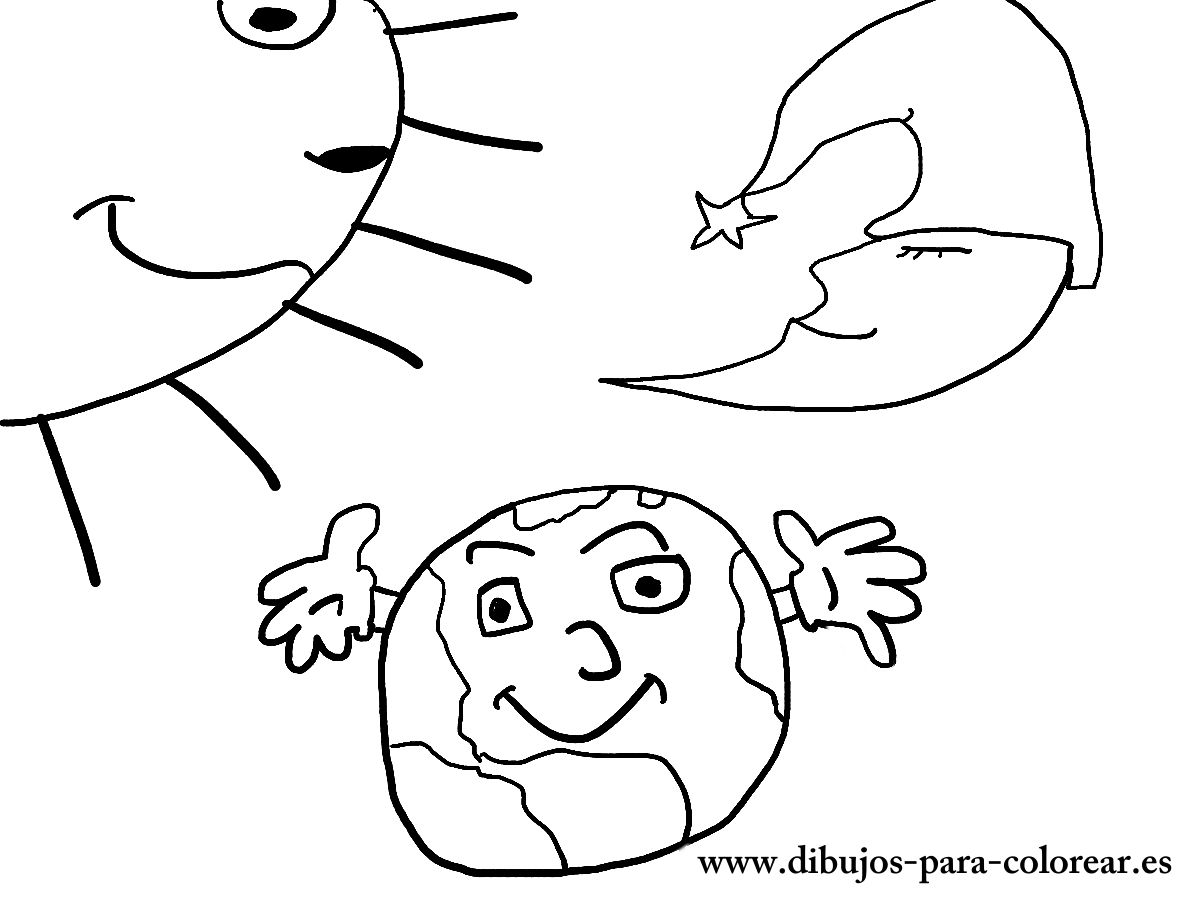 Dibujos para colorear - el dia y la noche