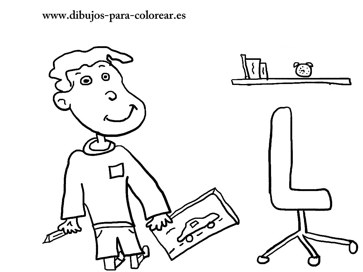 Dibujos para colorear - el juguete de sergio