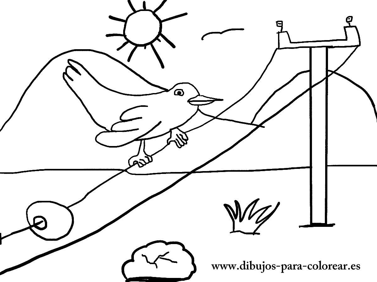 Bonito Páginas Para Colorear De Pájaros Para Imprimir Festooning ...