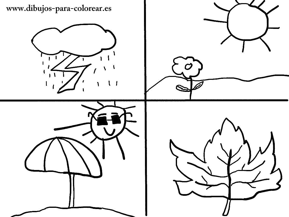 Dibujos para colorear - las estaciones del año