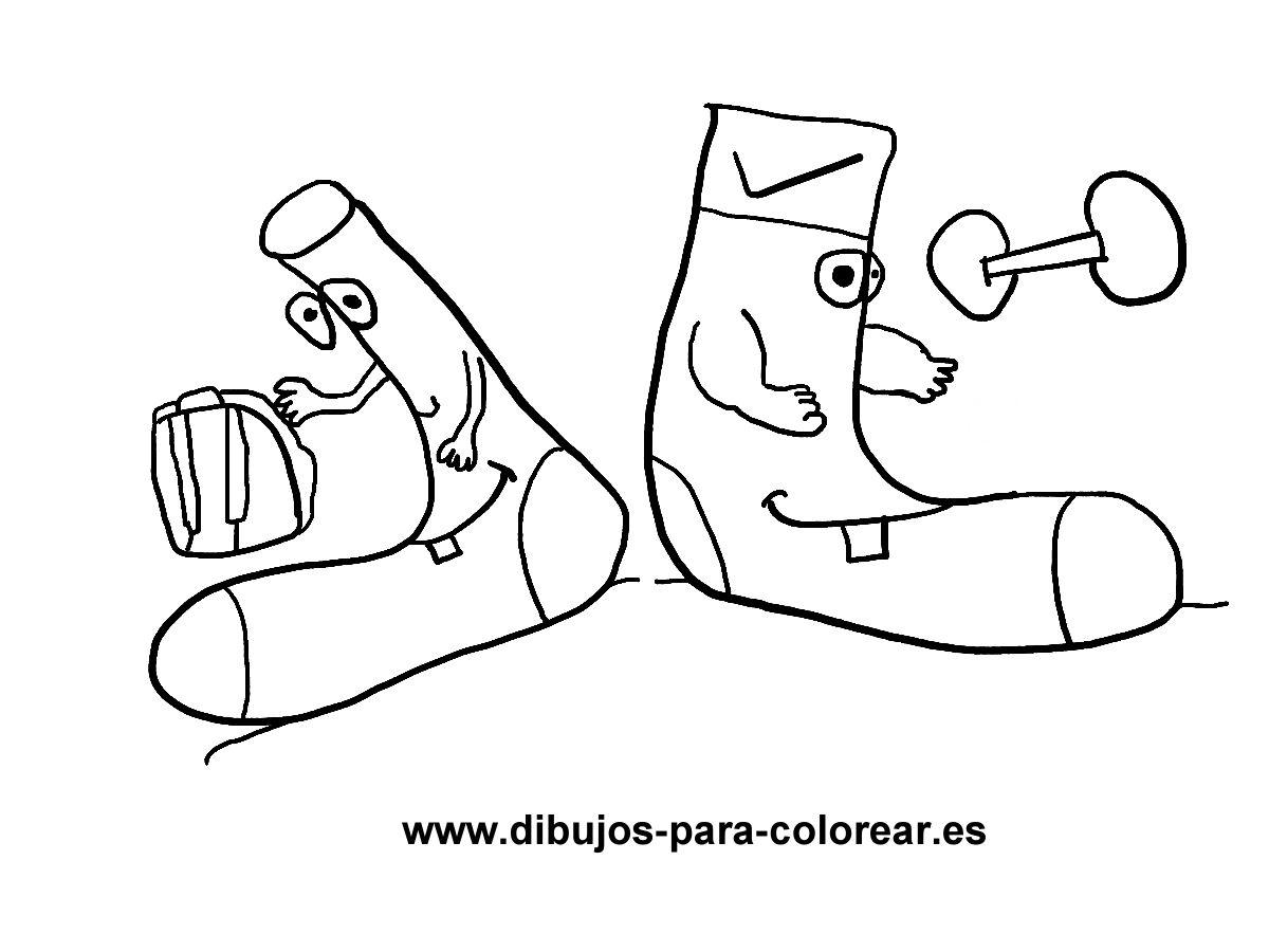Dibujos para colorear - calcetines de deporte calcetines de vestir