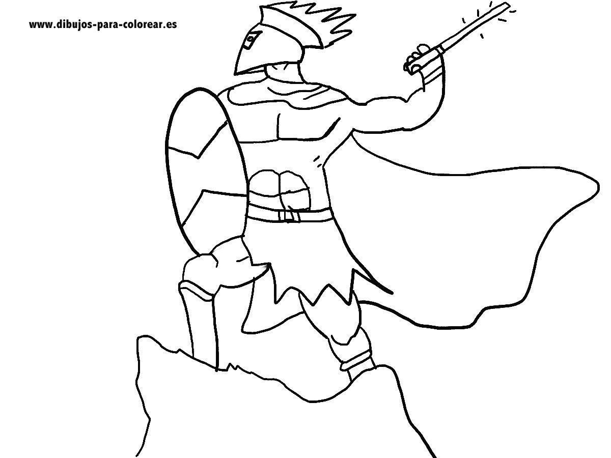 Dibujos para colorear - El guerrero