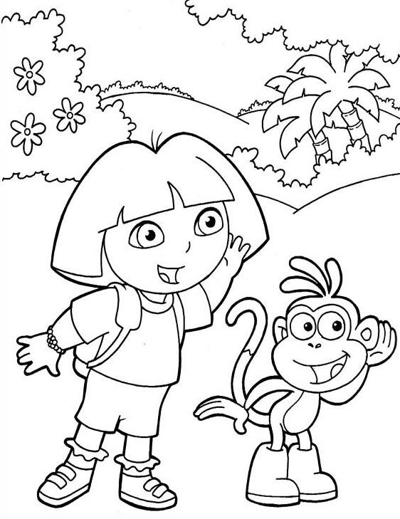 Dibujos para colorear - Dora la exploradora