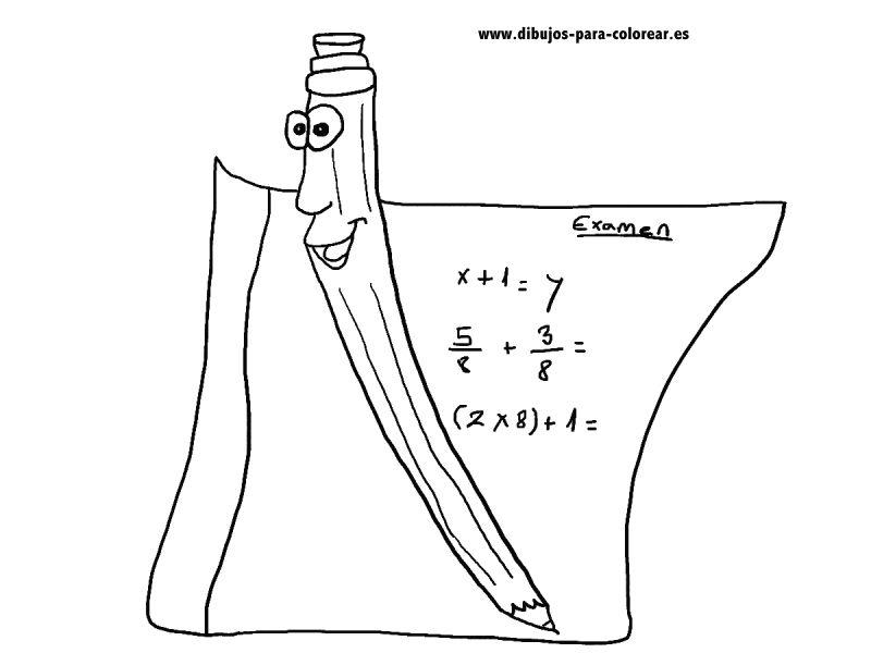 Dibujos para colorear - El lapiz y el papel