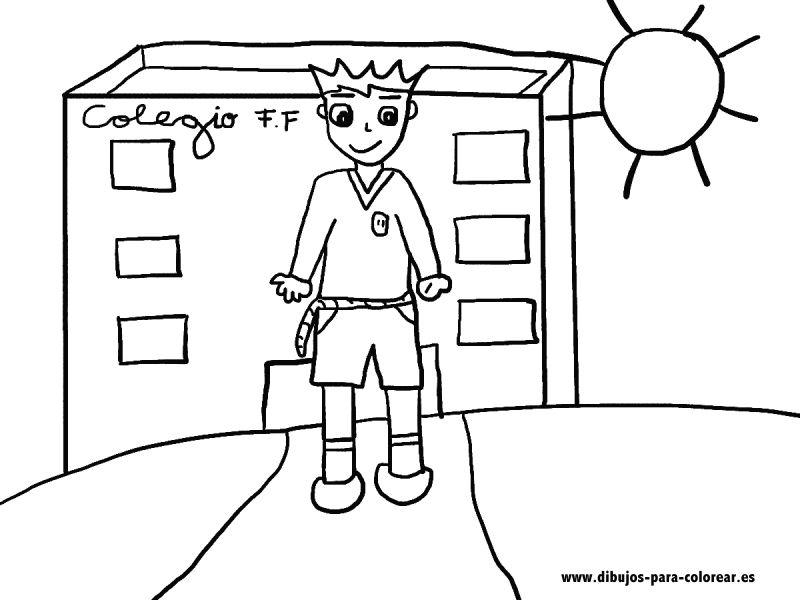 EL NIÑO EN EL COLEGIO | Dibujos para colorear