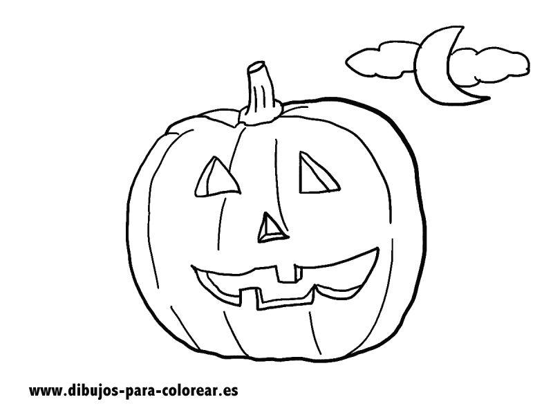 Dibujos para colorear - Calabaza de halloween
