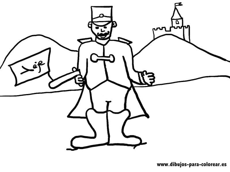 Dibujos para colorear - El soldado del reino