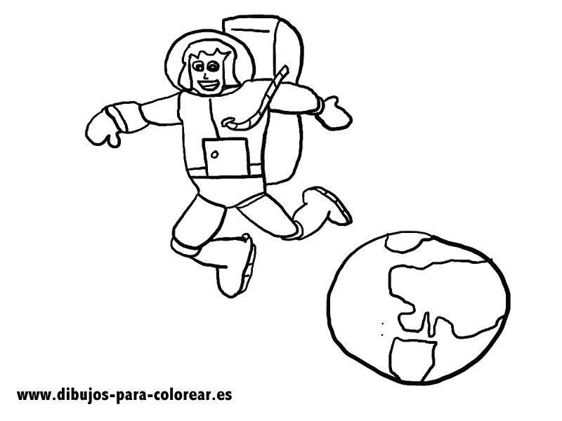 Dibujos para colorear - La astronauta