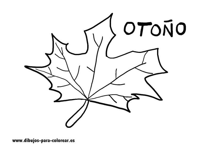 Dibujos para colorear - El otono