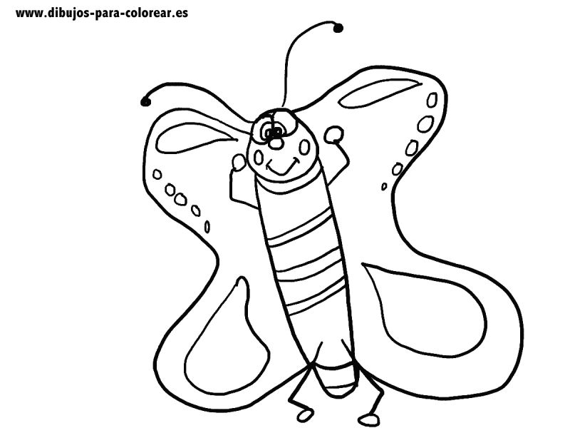 Dibujos para colorear - Mariposa