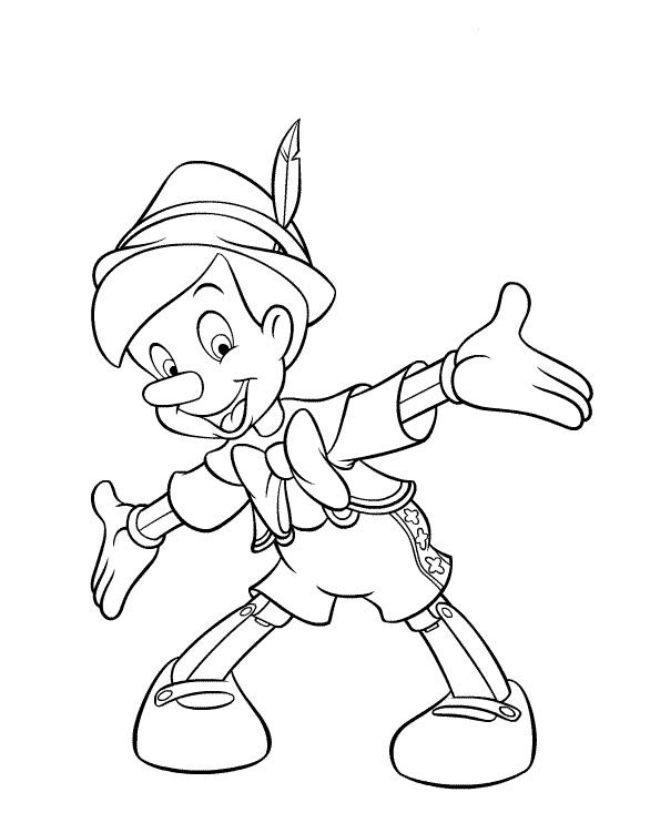Dibujos para colorear - Pinocho