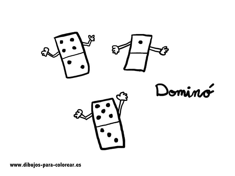 Dibujos para colorear - El Domino
